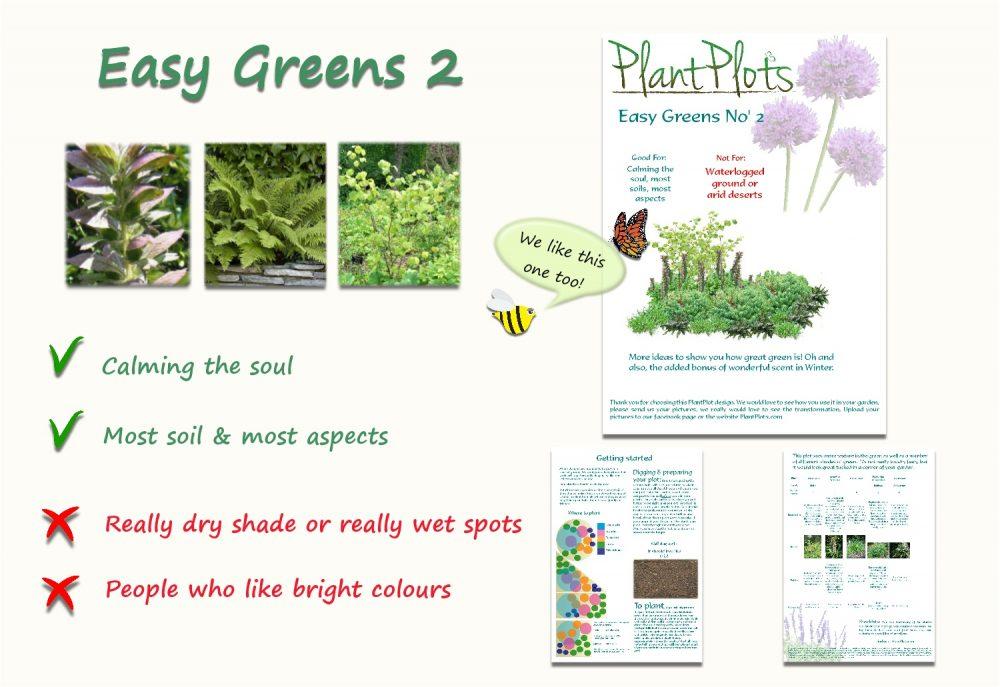 Garden Border Planting Design Plan easy care planting in green
