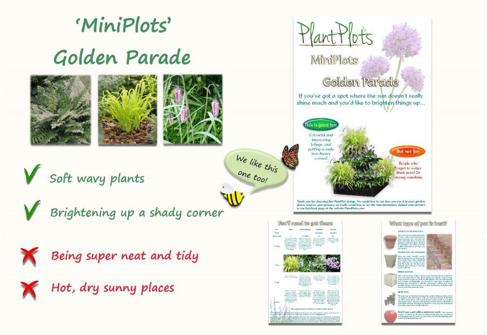 Garden Border Planting Design Plan brighten up shaded place yellow theme