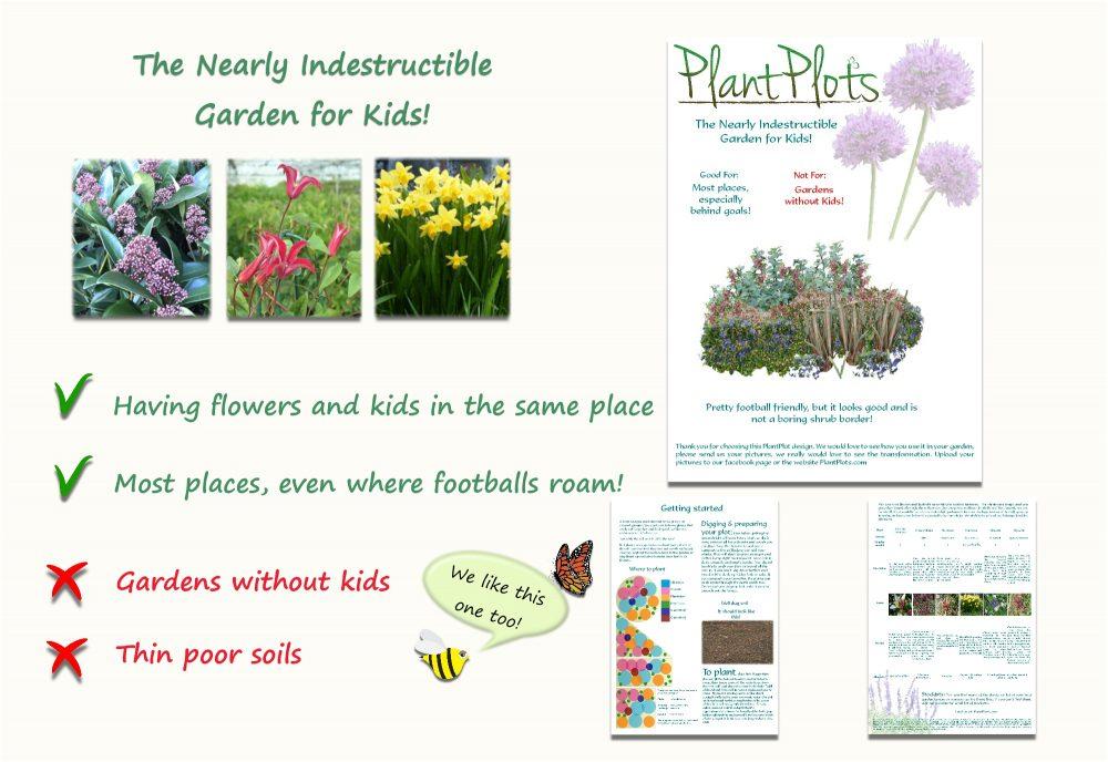 Garden Border Planting Design Plan easy care planting scheme