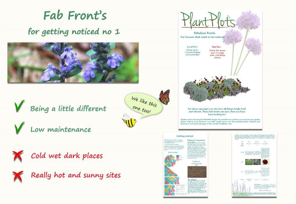 Garden Border Planting Design Plan low growing planting scheme in deep purple grey
