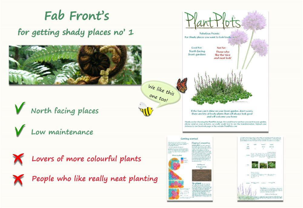 Garden Border Planting Design Plan easy care planting for shade