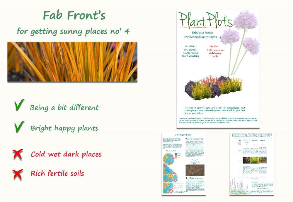 Garden Border Planting Design Plan low planting scheme in orange and purple