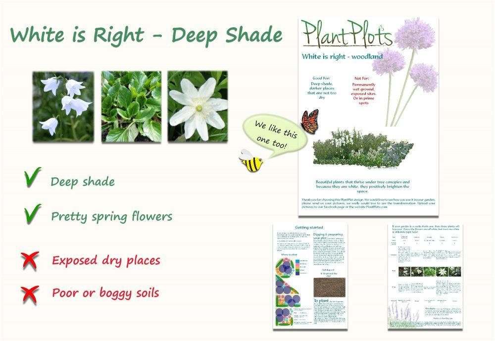 Garden Border Planting Design Plan white inspired border plan shade