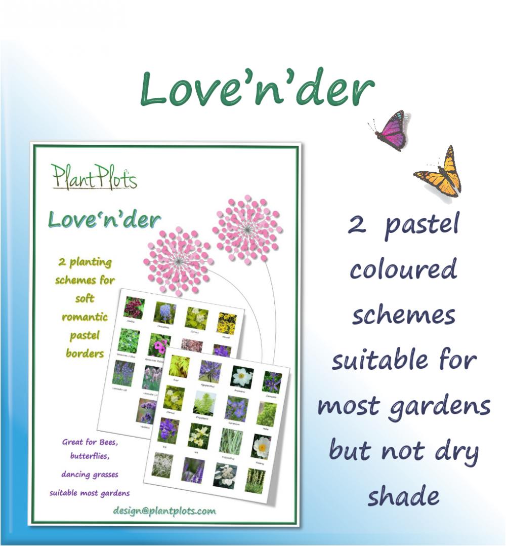 garden planting plan garden design product pastel flowers